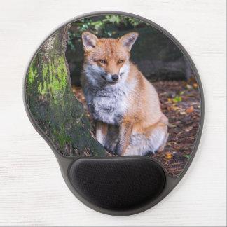 Mouse Pad De Gel Mousepad da raposa vermelha sentou-se por um