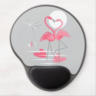 Mouse Pad De Gel Mousepad do gel do amor do flamingo