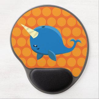 Mouse Pad De Gel Narwhal de flutuação - gel Mousepad