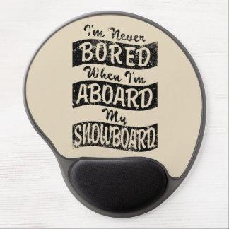 Mouse Pad De Gel Nunca furado A BORDO de meu SNOWBOARD (preto)