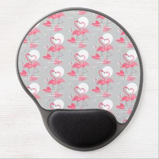 Mouse Pad De Gel O amor do flamingo telhou o mousepad do gel