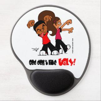 """Mouse Pad De Gel O """"deus não gosta FEIO!"""" Tapete do rato do gel"""