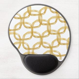 Mouse Pad De Gel O ouro branco circunda o encanto chique do teste