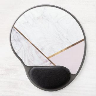 Mouse Pad De Gel O redemoinho cor-de-rosa do mármore do ouro & cora