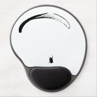 Mouse Pad De Gel Pára-quedas preto & branco - mousepad do gel