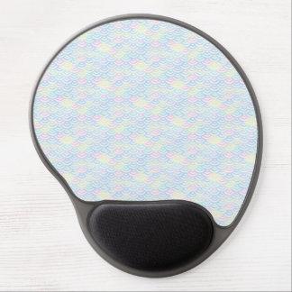 Mouse Pad De Gel Pastel da sereia do arco-íris