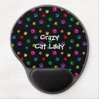 Mouse Pad De Gel Pata do gato da senhora Arco-íris Pintura louca