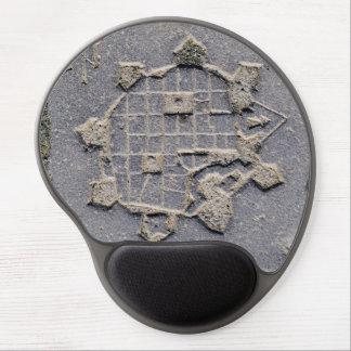 Mouse Pad De Gel Pedra de pavimentação do mapa da citadela de