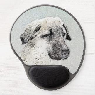 Mouse Pad De Gel Pintura anatólia do pastor - arte original do cão
