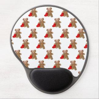 Mouse Pad De Gel Pouco coração grande do ursinho telhado
