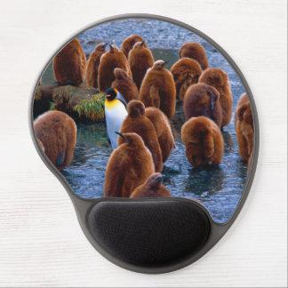 Mouse Pad De Gel Rei pinguim e pintinhos - tapete do rato