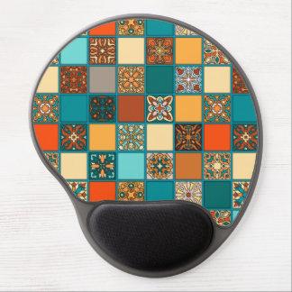 Mouse Pad De Gel Retalhos do vintage com elementos florais da
