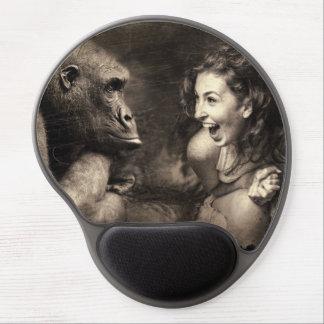 Mouse Pad De Gel Riso do gorila do fazer da mulher
