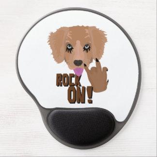 Mouse Pad De Gel Rocha do filhote de cachorro do metal pesado sobre