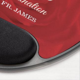 Mouse Pad De Gel Rosa vermelha conhecida feita sob encomenda da