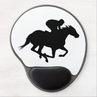Mouse Pad De Gel Silhueta do cavalo de raça