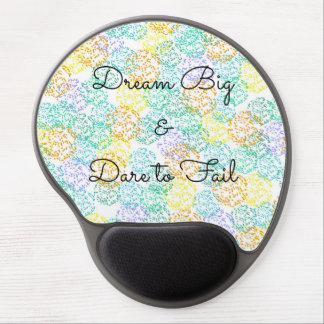 Mouse Pad De Gel Tapete do rato colorido de inspiração das citações