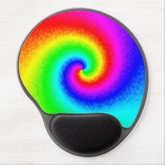 Mouse Pad De Gel Tapete do rato do gel do redemoinho do arco-íris