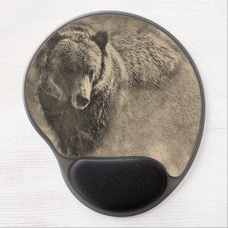 Mouse Pad De Gel Tapete do rato do gel do urso de Grizzy