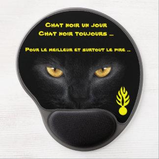 Mouse Pad De Gel Tapete rato para gato preto