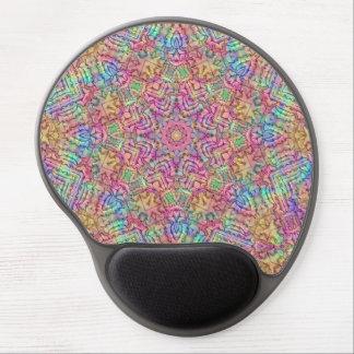 Mouse Pad De Gel Techno colore o gel Mousepad do caleidoscópio do