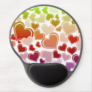 Mouse Pad De Gel Teste padrão brilhante Funky dos corações