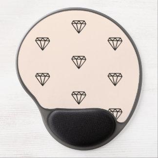 Mouse Pad De Gel Teste padrão chique bonito do rosa do diamante