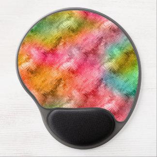 Mouse Pad De Gel Teste padrão colorido do cristal