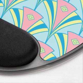 Mouse Pad De Gel Teste padrão cor-de-rosa do fã do verde azul