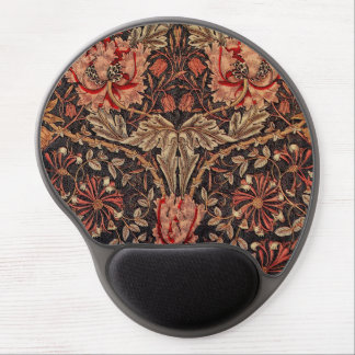 Mouse Pad De Gel Teste padrão da madressilva de William Morris