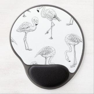 Mouse Pad De Gel Teste padrão do flamingo
