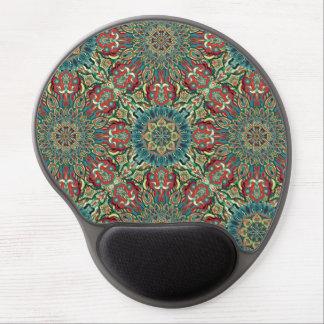 Mouse Pad De Gel Teste padrão floral étnico abstrato colorido da