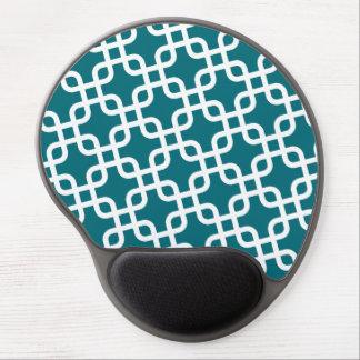 Mouse Pad De Gel Teste padrão geométrico azul e branco