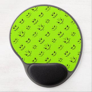 Mouse Pad De Gel Teste padrão insolente do Doodle das expressões -