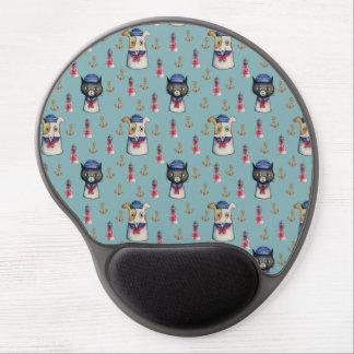 Mouse Pad De Gel Teste padrão náutico da aguarela dos marinheiros