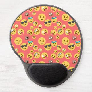 Mouse Pad De Gel Teste padrão vermelho parvo de Emoji