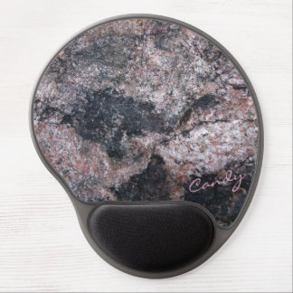 Mouse Pad De Gel Textura da rocha Pinkish com doces