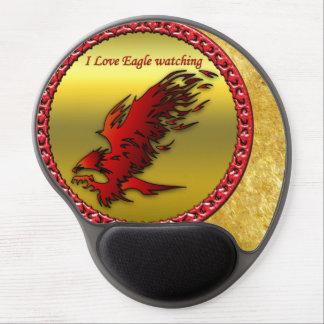 Mouse Pad De Gel Textura falcan da folha de ouro do falcão vermelho
