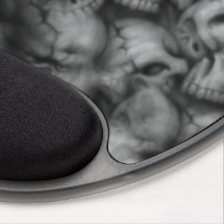 Mouse Pad De Gel texturas da cabeça do crânio da escuridão