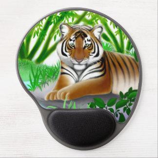 Mouse Pad De Gel Tigre de Bengal novo no gel Mousepad da selva