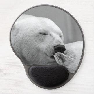 Mouse Pad De Gel Urso polar de descanso bonito