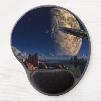 Mouse Pad De Gel Viagem espacial com o gel Mousepad do navio de