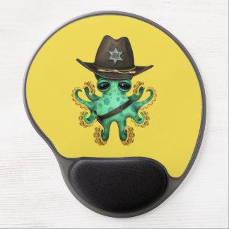 Mouse Pad De Gel Xerife verde bonito do polvo do bebê