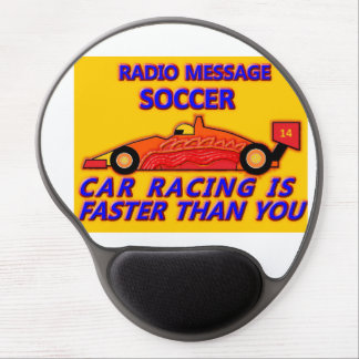 Mouse Pad: Soccer, Car Racing is Faster Than You Mouse Pad De Gel