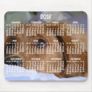 Mouse pads 2018 da foto do calendário do golden