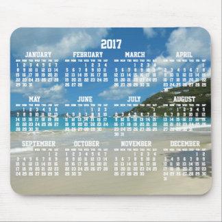 Mouse pads anual do calendário 2017 da praia