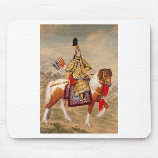 Mousepad 乾隆帝 do imperador do Qianlong de China na armadura