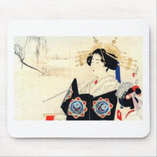 Mousepad 水野年方 de Mizuno Toshikata, Courtesan - arte