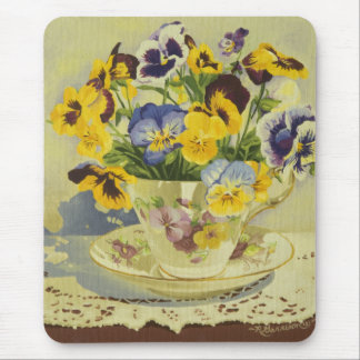Mousepad 1187 Pansies no Teacup