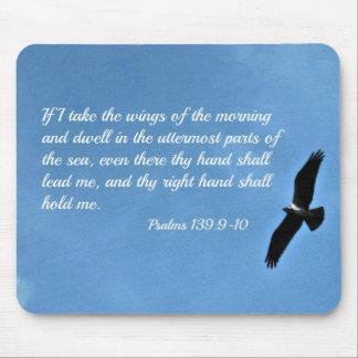 Mousepad 139:9 do salmo - 10 se eu tomo as asas da manhã